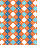 Argyle Orange Blue Turquoise