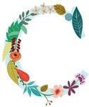 Floral Monogram C