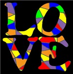 LOVE STAINED GLASS WINDOW