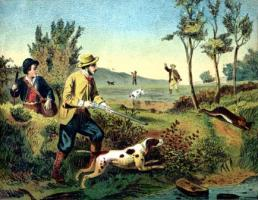 19th C. Hunters in Maine