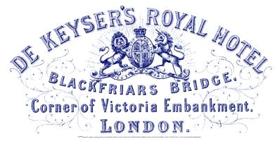 1878 De Keysers Royal Hotel, London