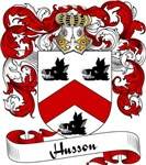 Husson Family Crest, Coat of Arms