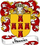 Meunier Family Crest, Coat of Arms