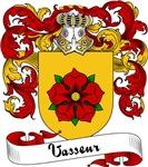 Vasseur Family Crest, Coat of Arms
