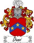 Danzi Family Crest, Coat of Arms