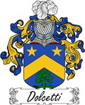 Dolcetti Family Crest, Coat of Arms