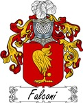 Falconi Family Crest, Coat of Arms