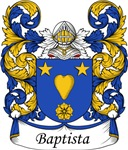 Baptista Family Crest, Coat of Arms