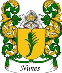 Nunes Family Crest, Coat of Arms