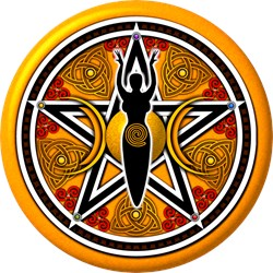 Gold-Red Goddess Pentacle
