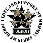 Kids Army Love Support Mommy Hero