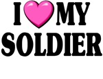I love (pink heart) My Soldier