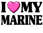 I love (pink heart) My Marine