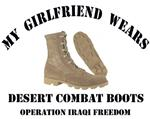 My girlfriend wears desert combat boots