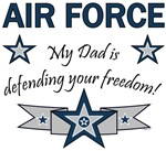 My Dad is defending your freedom!