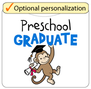 Preschool Graduate - Monkey (Blue)