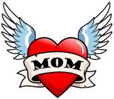 Mom Tattoo Winged Heart