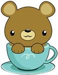 Kawaii Bear in Teacup