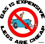 No Cars-Cheaper Than Gas teeshirts