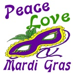 Peace Love Mardi Gras