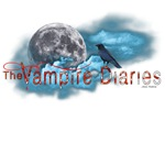 The Vampire Diaries Bloody Text Raven Moon Clouds