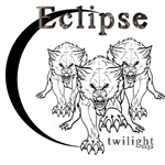 Twilight Eclipse Wolf Pack Vector