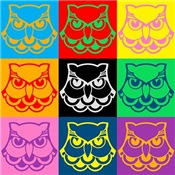 Pop Art Owl Face