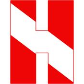 Scuba Flag Letter H