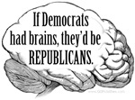 Democrats Brains
