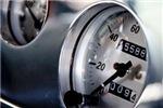 Vintage Dashboard Speedometer