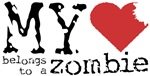A hilarious love themed design for the Zombie geek.  Only the lovers of gory zombie movies will enjoy the humor.  Another great design by Gifts For A Geek.