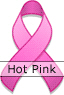 Hot Pink Ribbon for National Breast Cancer Awareness Month