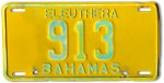 Bahamas License Plate