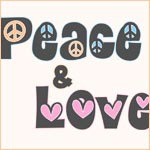 Peace and Love T-Shirts and Gifts