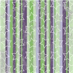 Purple and Green Striped Star Print