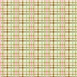 Brown, Green, and Pink Gingham Print