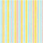 Pink, Yellow, and Blue Mod Stripes
