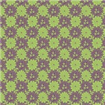 Contemporary Purple and Green Print