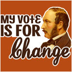 Vintage My Vote is For Change