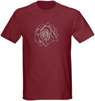 Woodcut Roses Men's Clothing