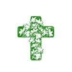 Pretty green christian cross 5 U Q