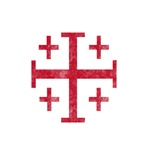 Pretty red christian cross 1 U D