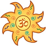 HEALING SUN WITH OM - women's