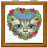 Floral Cat t-shirts and gifts
