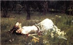 Ophelia Lying in the Meadow