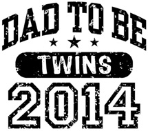 Dad To Be Twins 2014 t-shirt