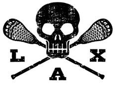Lacrosse Lax Skull t-shirt