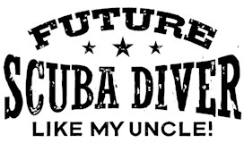 Future Scuba Diver Like My Uncle t-shirt