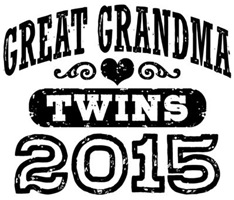 Great Grandma 2015 Twins t-shirt