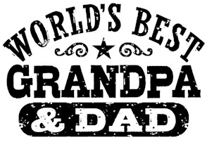 World's Best Grandpa and Dad t-shirts